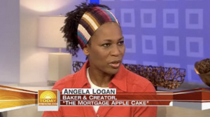 "Angela Logan, Baker and Creator of ""The Mortgage Apple Cake"""